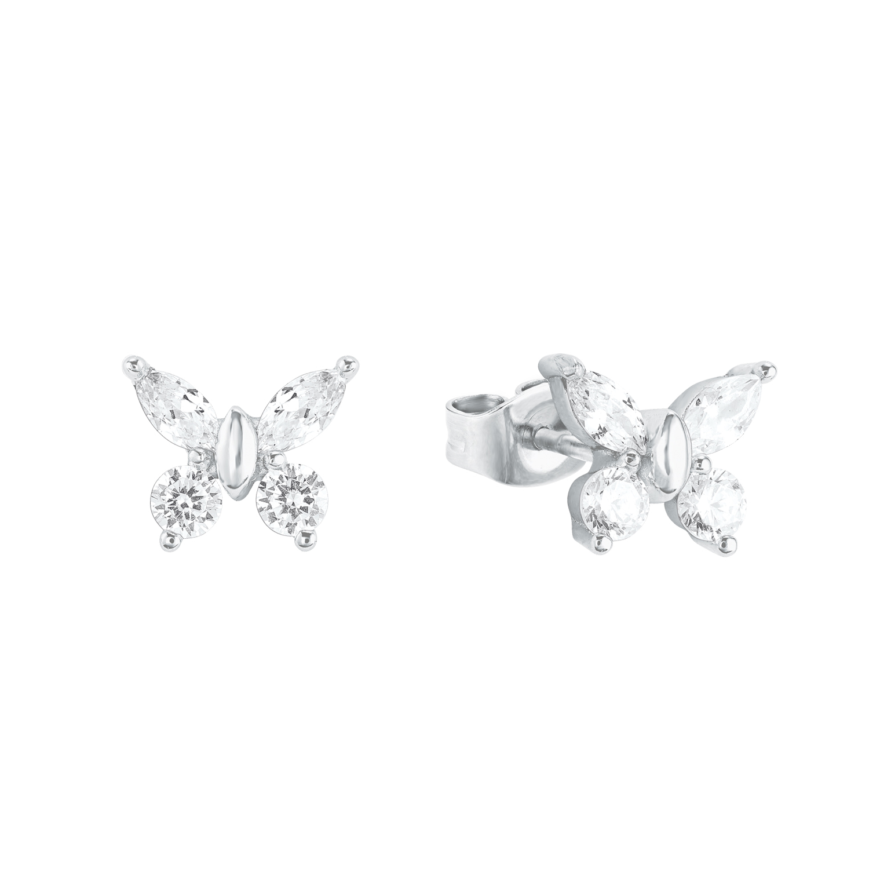 Ohrstecker für Mädchen, Sterling Silber 925, Zirkonia Schmetterling