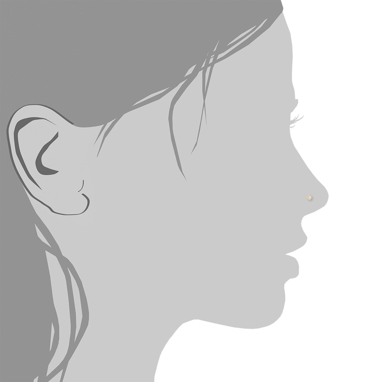 Nasenpiercing für Damen, Gold 750, Zirkonia