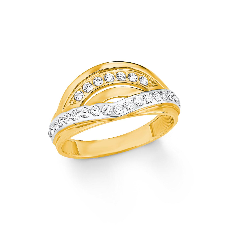 Ring für Damen, Gold 333, Zirkonia