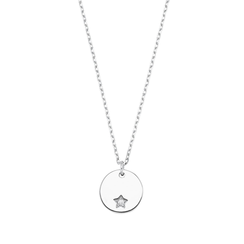 Kette mit Anhänger für Damen, Sterling Silber 925, Zirkonia Stern