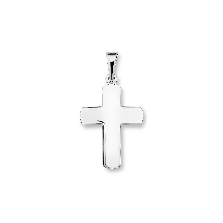 Anhänger Silber 925, rhodiniert Kreuz